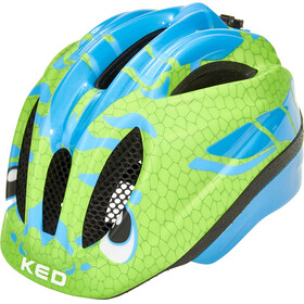 KED Meggy II Trend Helmet Kids Dino Lightblue Green
